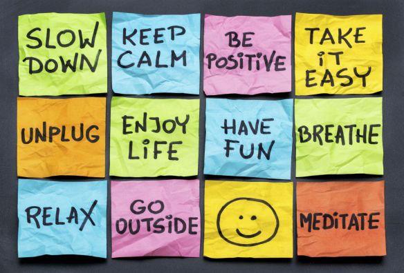 stress-relax post it